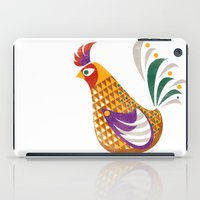 rooster iPad Cases featuring Rooster by Jackie Sullivan