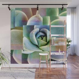 Succulents collage Wall Mural