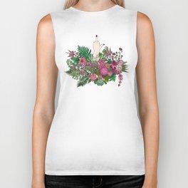 Botanical Bird Bouquet Biker Tank