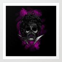 Prince Style Errorface Skull Art Print