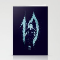 messi Stationery Cards featuring Messi by Andres Moncayo