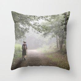 Camino to Santiago de Compostela Throw Pillow