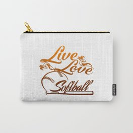 LIVE - LOVE - SOFTBALL Carry-All Pouch