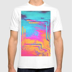 Running To The Sea. Mens Fitted Tee MEDIUM White