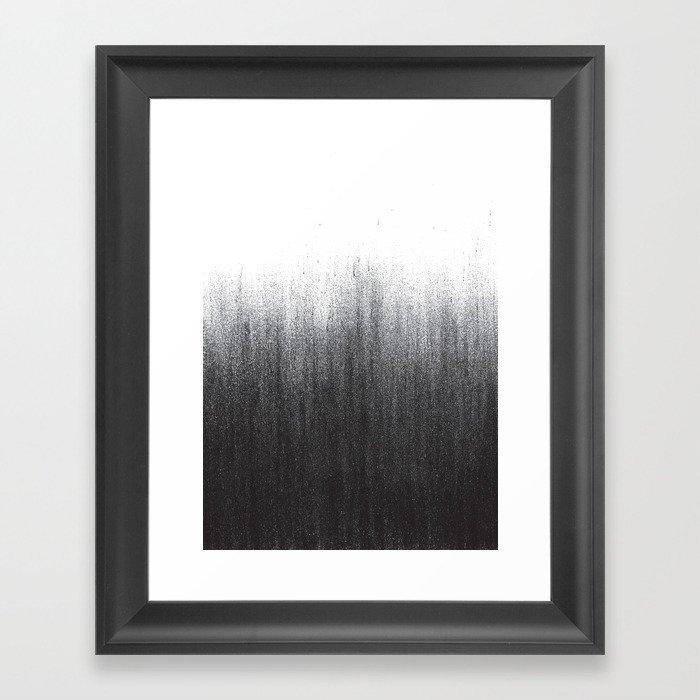 Charcoal Ombré Gerahmter Kunstdruck