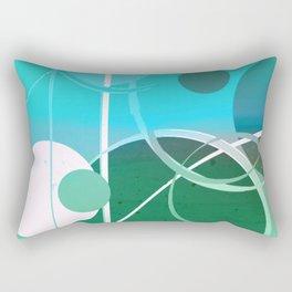 Turquoise Green Ombré Circle Abstract Design 2 Rectangular Pillow