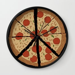 PEACE-A-PIZZA Wall Clock