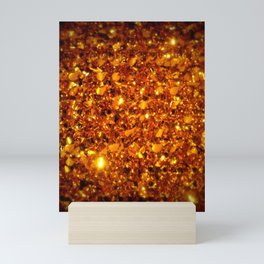Copper Sparkle Mini Art Print