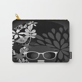 Afro Diva : Sophisticated Lady Black & White Carry-All Pouch