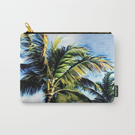 Palm Trees in the Wind (Hawaii Sky) Carry-All Pouch