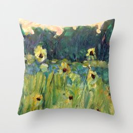 Sunflowers of Texas Throw Pillow