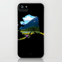 Alaska Outline - God's Country iPhone Case