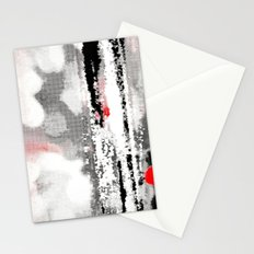 Abstract Seascape - Black, White, Red Stationery Cards