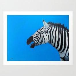CALLING ZEBRA Art Print