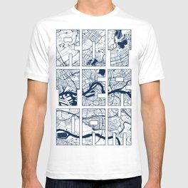 Rotterdam City Map of Netherlands - Coastal T-shirt