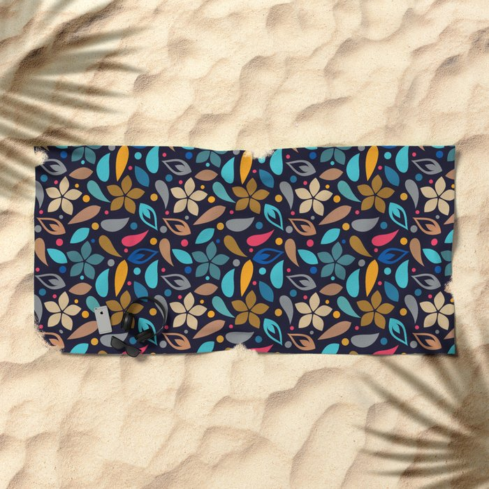 Colorful Lovely Pattern XV Beach Towel