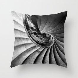 Sand stone spiral staircase Throw Pillow
