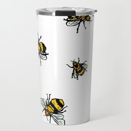 Just Some Beez A - White Travel Mug