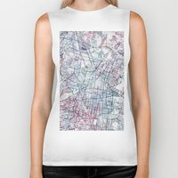 mexico Biker Tanks featuring Mexico map by MapMapMaps.Watercolors