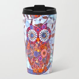 If Klimt Painted An Owl :) Owls are darling birds! Travel Mug
