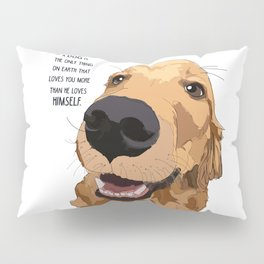 Golden Retriever Love Pillow Sham