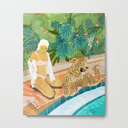 The Wild Side #illustration #painting Metal Print
