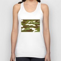 camo Tank Tops featuring CAMO by Bruce Stanfield