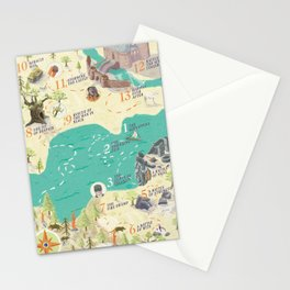 Princess Bride Discovery Map Stationery Cards