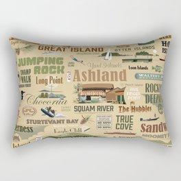 Squam-o-rama Print Rectangular Pillow