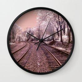 Train Track in Culpeper Wall Clock