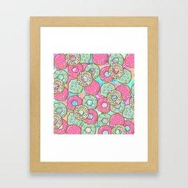 Sweet Donuts Cookies Framed Art Print