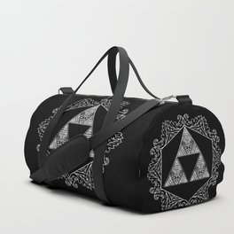 Triforce Aztec White Pattern Duffle Bag