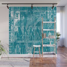Life Only Makes Sense In Certain Fictions [Now In Duotone - Teal] Wall Mural