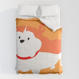 ORANGE BILLY BULL DOG Comforters