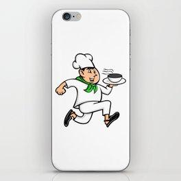 Speedy Chef Running Serving Pot of Food Mascot iPhone Skin
