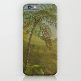 Vintage Painting of Palm Tree in Jamacia, 1865 iPhone Case