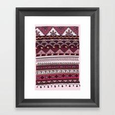 Yzor pattern 004 lilac Framed Art Print
