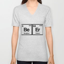 Funny Periodic Table Beer Lover Science Scientist Nerd Gift Unisex V-Neck