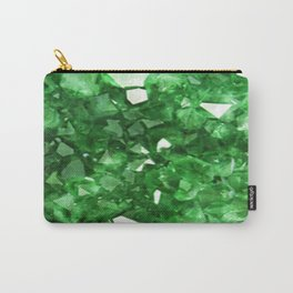 EMERALD GREEN CRYSTALS  MAY BIRTHSTONE Carry-All Pouch
