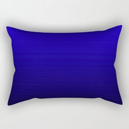 Black - Blue Ombre Gradient Rectangular Pillow