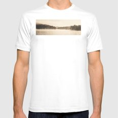 A New Day  - Foggy Morning at Laurel  MEDIUM Mens Fitted Tee White