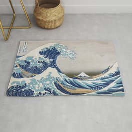 Under the Wave off Kanagawa - The Great Wave - Katsushika Hokusai Rug