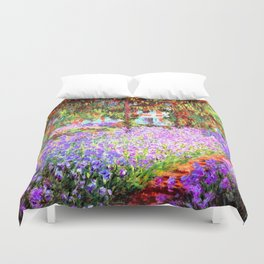 Monets Garden in Giverny Duvet Cover