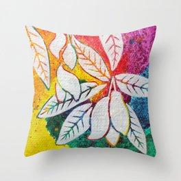 Leaves on the World Tree: Bengali Mango Throw Pillow