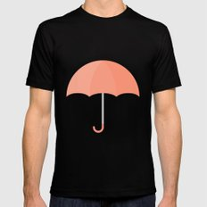 #71 Umbrella MEDIUM Mens Fitted Tee Black
