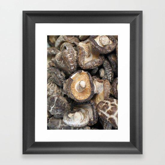 mushrooooms  Framed Art Print