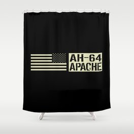 AH-64 Apache Helicopter Shower Curtain