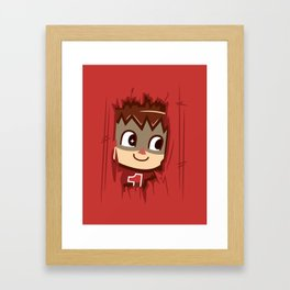Heeeeere's..... the Villager! Framed Art Print