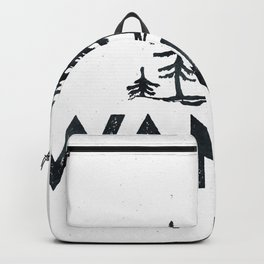 WANDER Forest Trees Black and White Backpack