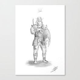 Jeff the Samurai Canvas Print